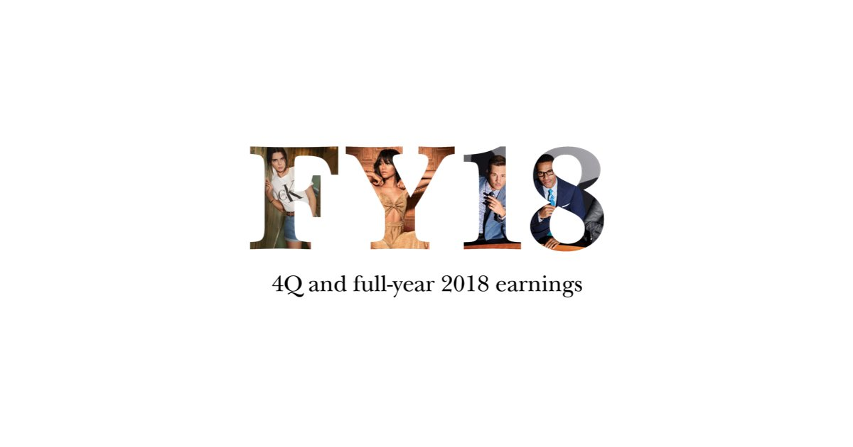 78ae07c42 Read more https   www.pvh.com news feature-articles PVH-reports-FY2018-earnings  …  WeArePVHpic.twitter.com rSYzqhH36o