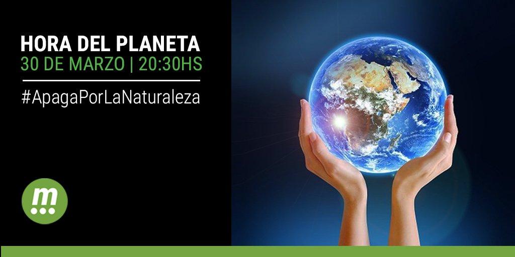 Sábado 30 de marzo de 2019 HORA DEL PLANETA Apaguemos la luz por una hora y demostremos que el cambio climático nos importa.  #conectateconlanaturaleza #diadelplaneta #ecologia #medioambiente #mediatecdigital #30m https://t.co/i2eYopb5Mq