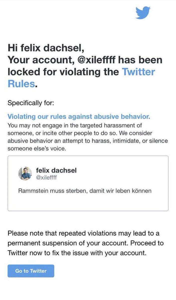Felix Dachsel wird von Twitter für 12 Stunden gesperrt weil er den berühmtesten Deutschpunk Song d…