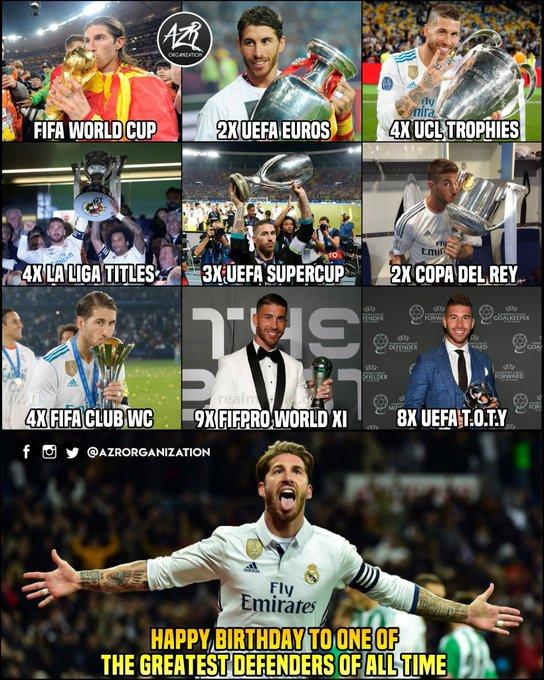 Happy Birthday El Capitano - Sergio Ramos  . .