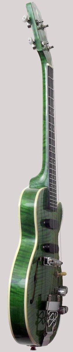 electric semi-acoustic tenor ukulele