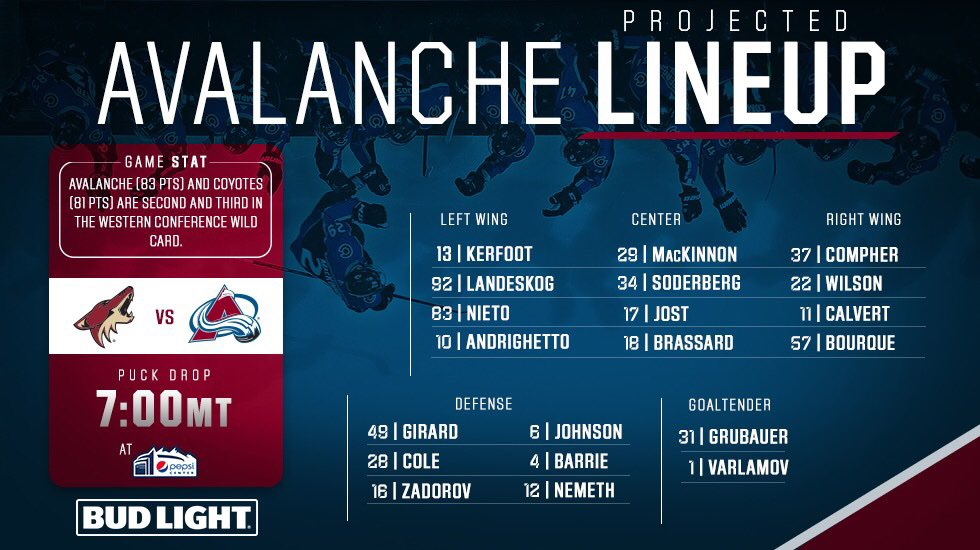 Colorado Avalanche on Twitter: