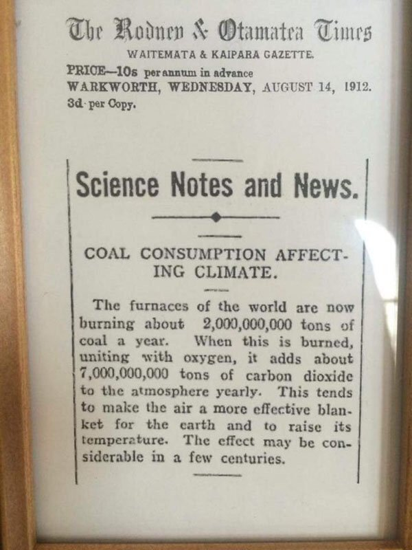 We knew climate change was happening in 1912!