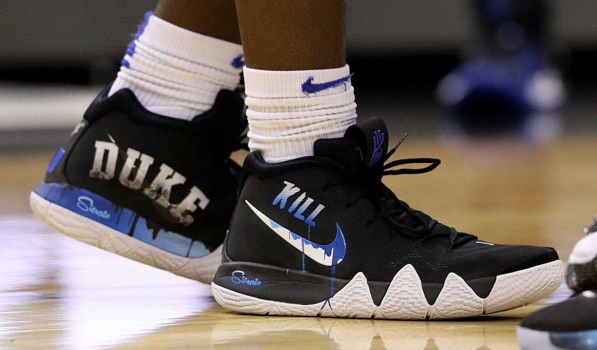 online retailer 5f916 fc846 Nike Kyrie: .@ZionW32's custom Nike Kyrie 4s for the Sweet ...