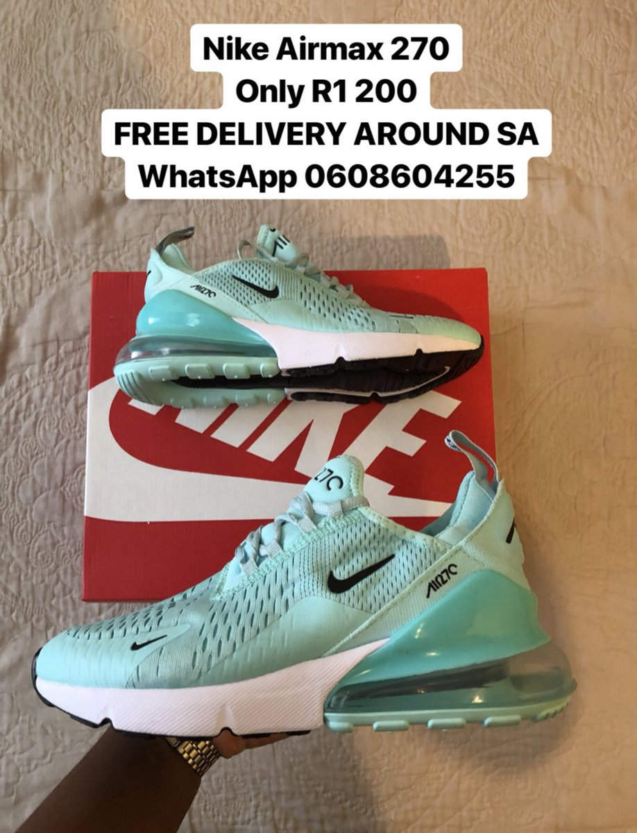 watch a9346 c01a4 Nike AirMax 270 Only R1 200 FREE DELIVERY AROUND SA WhatsApp 0608604255   Nike  AirMax270pic.twitter.com 4WMtlYRfJ0