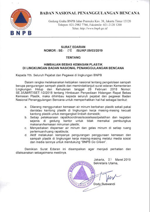 Sutopo Purwo Nugrohos Tweet Indonesia Darurat Sampah
