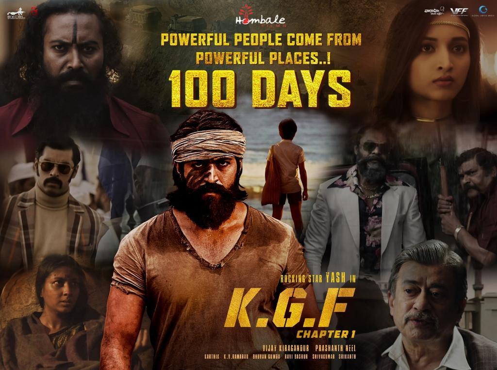 k gf full movie 2019 Vaaraahi Chalana Chitram On Twitter 100 Days For KGF