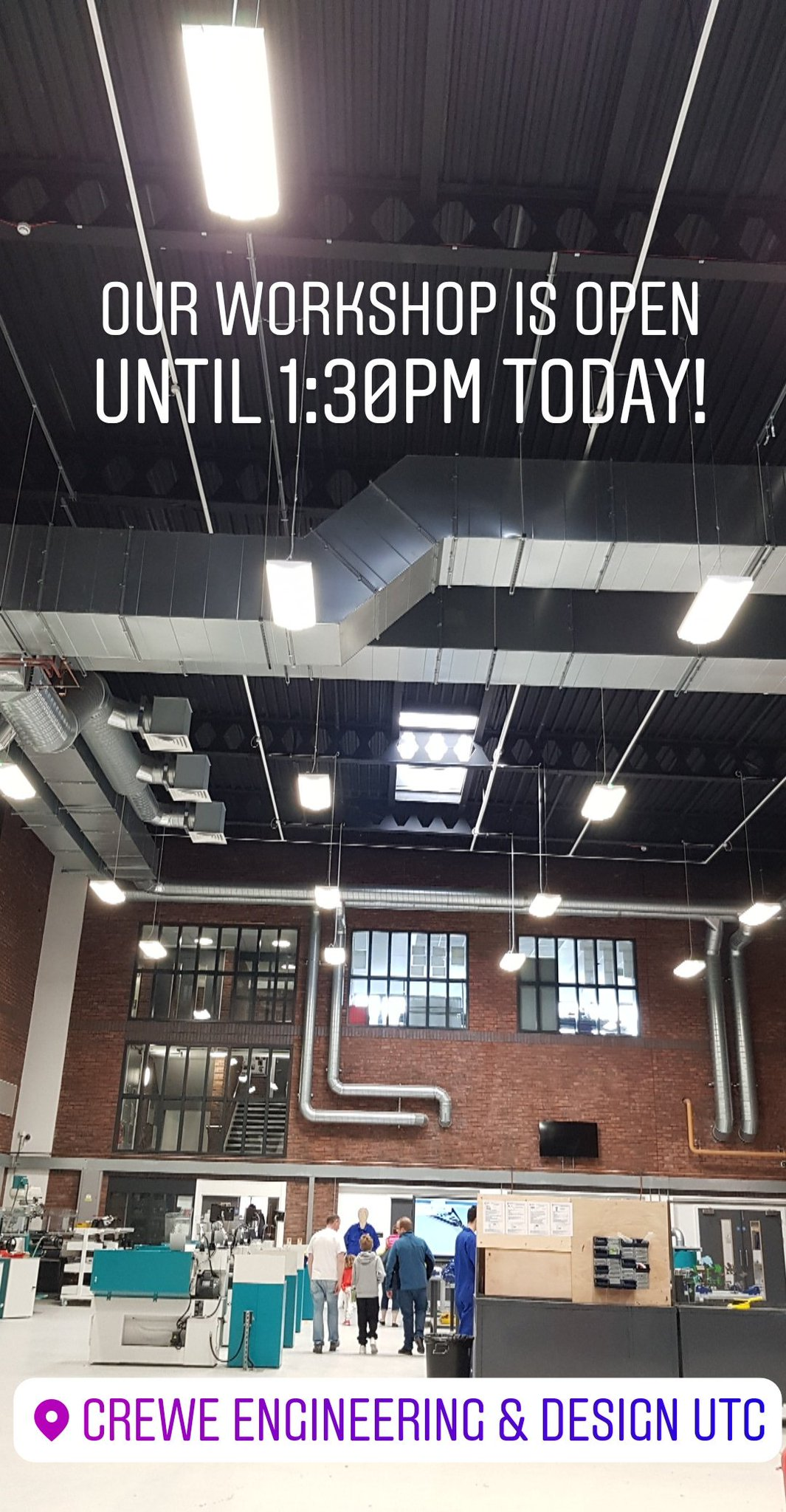 Crewe E D Utc On Twitter We Are Open Until 1 30pm Today For Visitors To Tour Our Workshop And Check Out Some Of The Work Our Students Have Been Doing Https T Co Haw3exvitn