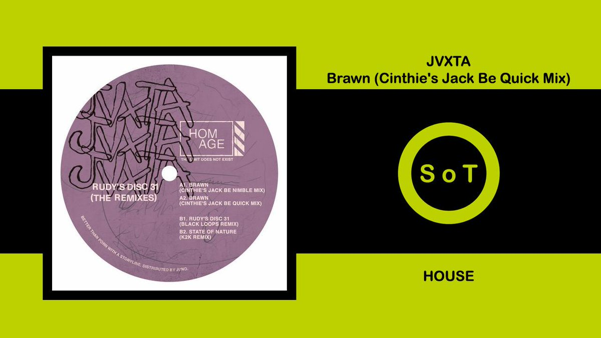 JVXTA - Brawn (Cinthie's Jack Be Quick Mix) [House] [HOMAGE]Listen it on YouTube ☞ https://youtu.be/IlKqlPproUA #jvxta #brawn #chintiesjackbequick #mix #originalmix #homage #housemusic #house #housemix