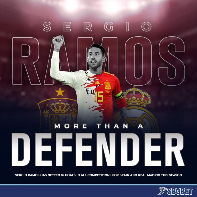 Sergio Ramos has been a menace on defence AND on offence!   He now has more goals for club and country this season than Thomas Muller, Marcus Rashford, and Diego Costa — all of which are bonafide goalscorers!   #RealMadrid #HalaMadrid #UnidosPorUnRETO #SergioRamos #VamosEspaña