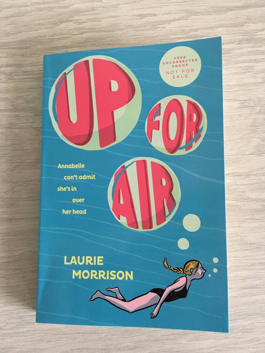 When I taught middle school, I saw the need for books that bridged the gap between MG & YA. That's why I wrote UP FOR AIR.  I want to give this ARC to a middle school teacher or librarian who's looking for upper MG books to bridge this gap. If that's you, RT & F by 4/3 to enter!