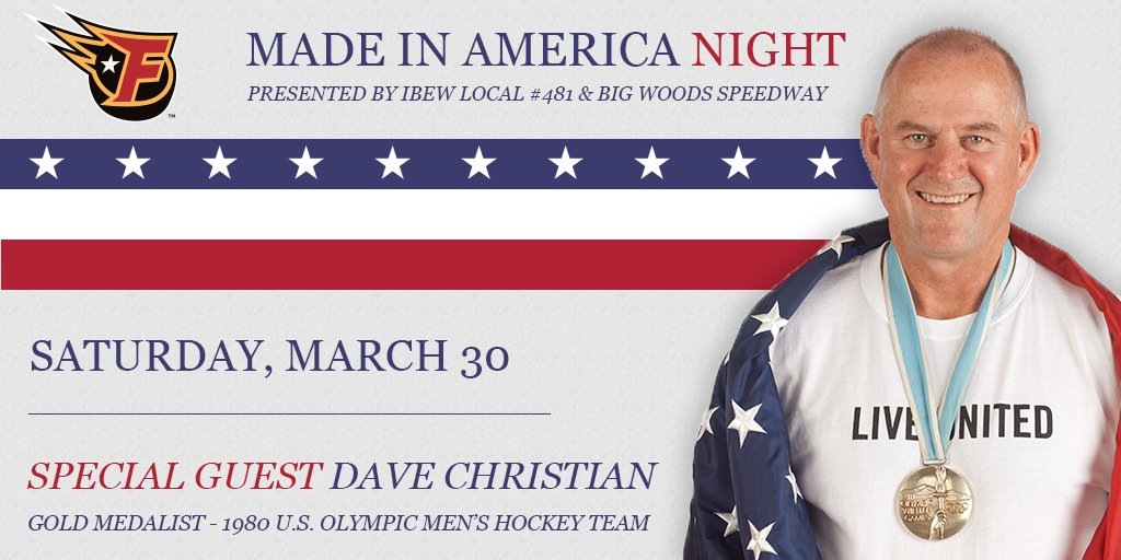 Were getting ready to celebrate the Stars and Stripes tonight for Made In America at Indiana Farmers Coliseum. Dont miss your chance to meet 1980 Olympic Gold Medalist Dave Christian! 🇺🇸 bit.ly/FuelSGTix