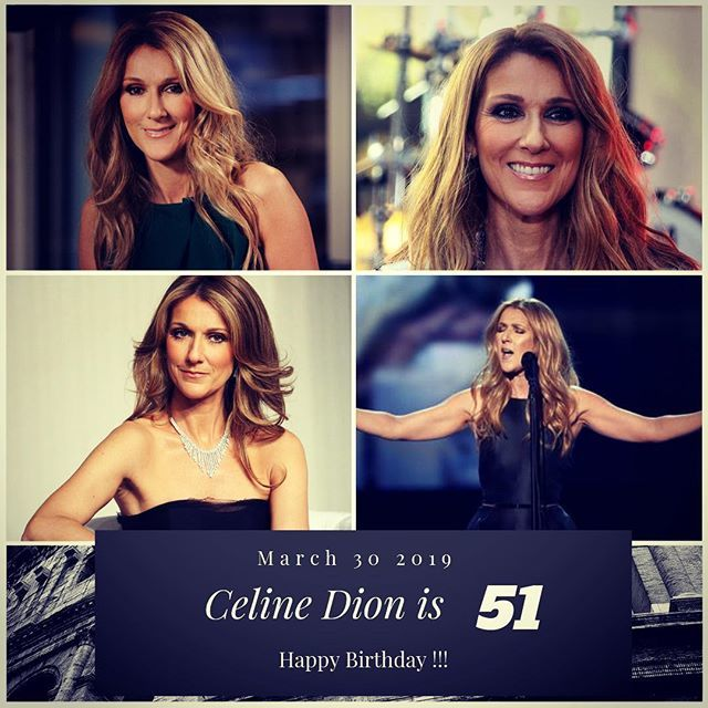 Singer Celine Dion turns 51 today !!!       to wish her a happy Birthday !!!
