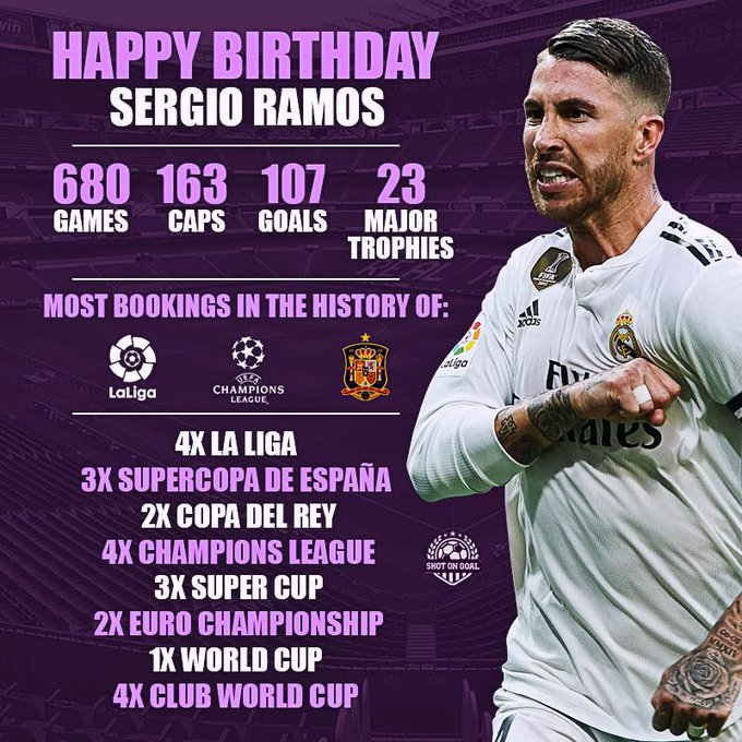 Happy Bday To The Greatest Defender in Football history Ramos