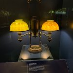 Image for the Tweet beginning: Double student lamp with spiral