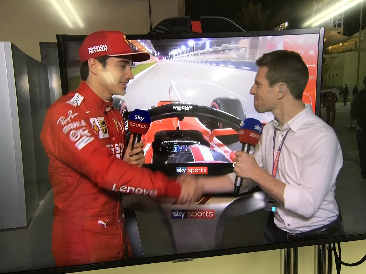 Really enjoyed this Skypad hit with @Charles_Leclerc just now (aired tomorrow during race day coverage). A remarkably talented young driver, but above all humble, polite and with his feet firmly on the ground. #F1 is in safe hands with stars like him. 👏🏼