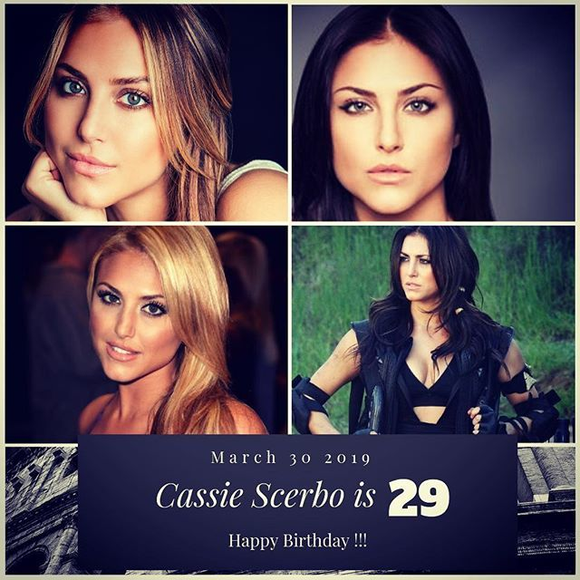 Actress Cassie Scerbo turns 29 !!!    to wish her a happy Birthday !!!