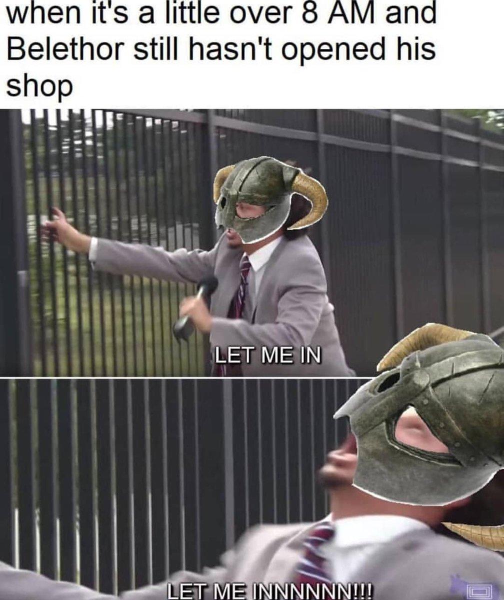 Skyrim Memes On Twitter