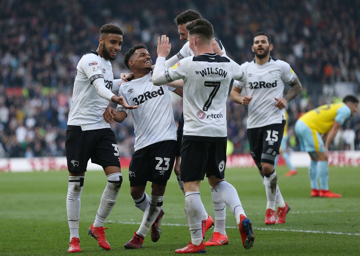 What a performance and win today🤩🙌🏼 buzzing for @Mwaghorn_9 getting his hat trick⚽️⚽️⚽️ and seeing @masonmount_10 back🙌🏼 fans brilliant throughout👏🏼🐏@dcfcofficial