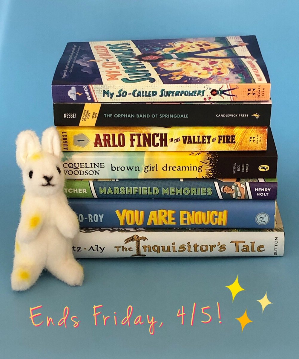 🌼It feels like spring outside today, so how about a #KidsNeedBooks giveaway to celebrate?🌼   Educators and librarians, RT/comment by 11:59 pm EST this Friday, April 5 for a chance to win this stack of books! (Sorry, 🐰 not included!)