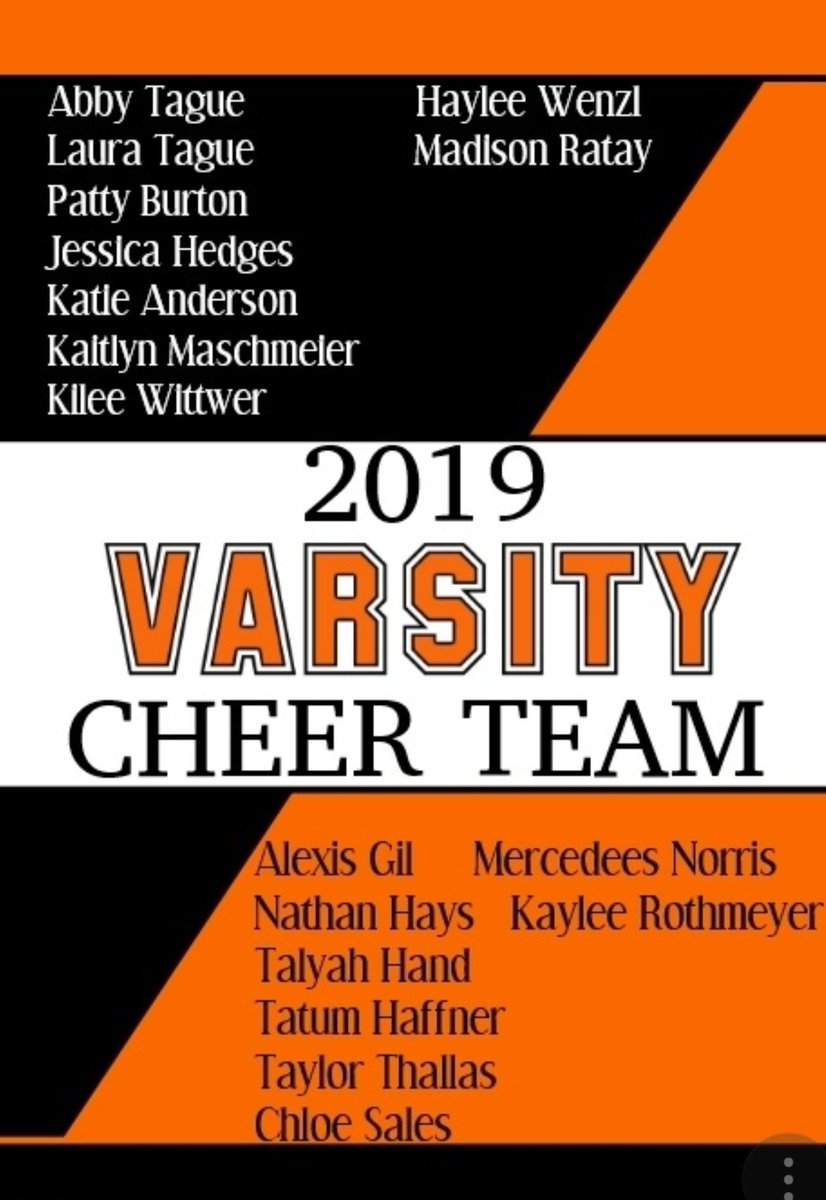 Congratulations to our 2019/20 Varsity cheerteam! 🧡🖤