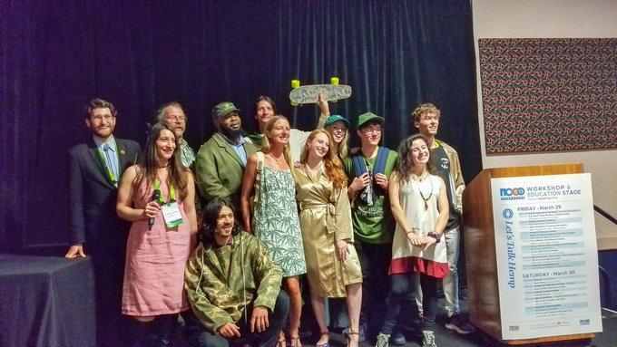 Diverse hemp fashions on stage at the NoCo Hemp Expo!