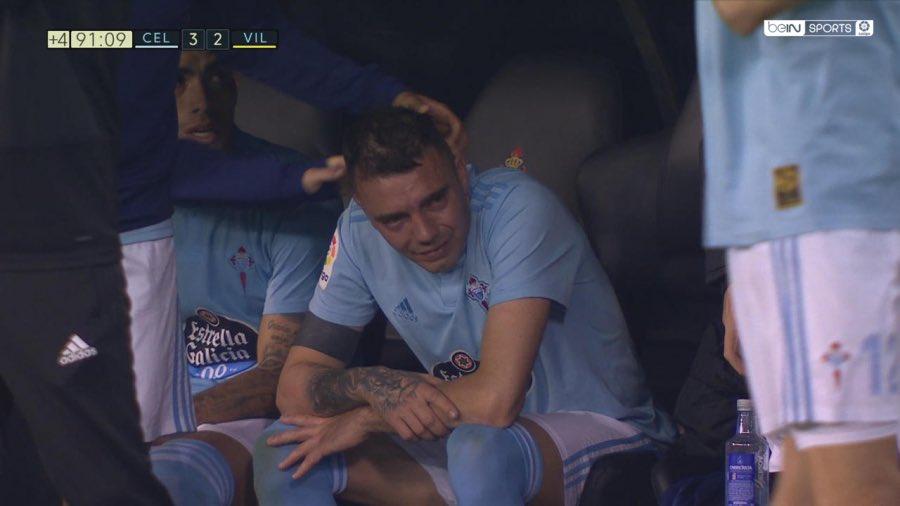 La imagen de Iago Aspas llorando desconsolado en el banquillo es el fútbol en su máxima expresión. Es el niño que lleva los colores marcados a fuego. El que sufre con su equipo y solo quería volver para ayudar. Iago me recuerda que es el fútbol cuando solo se habla de dinero.