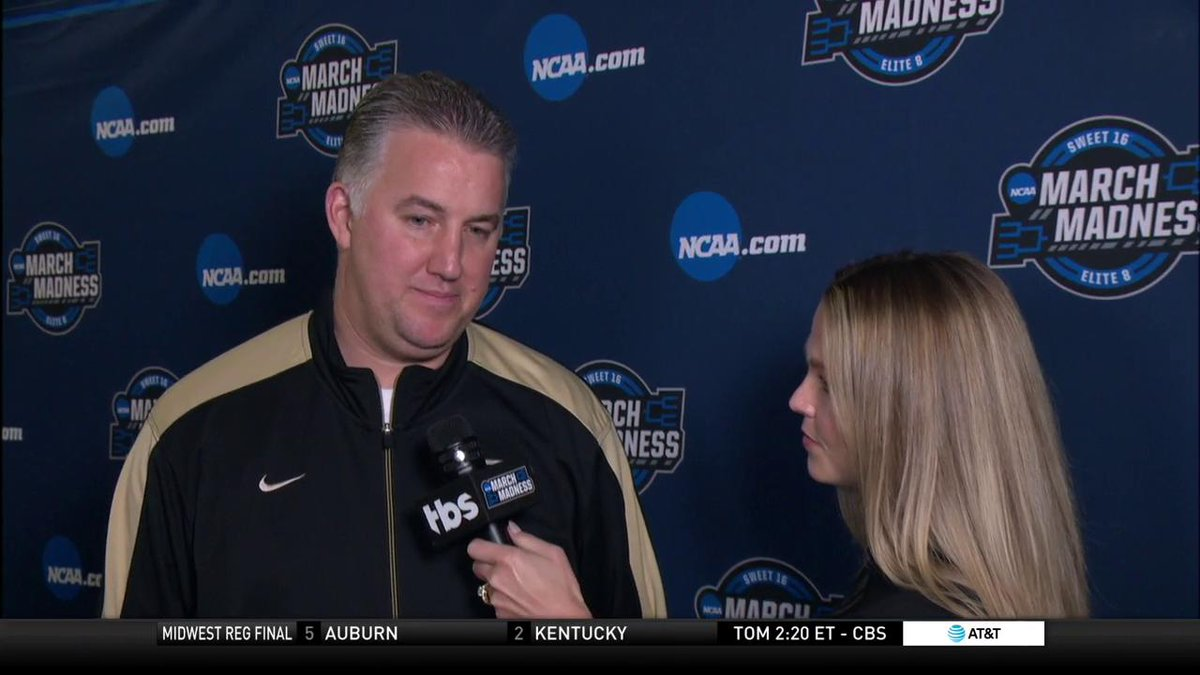 .@ALaForce asked @BoilerBall Coach Matt Painter what the key for tonight's game against @UVAMensHoops is.  His answer: DISCIPLINE