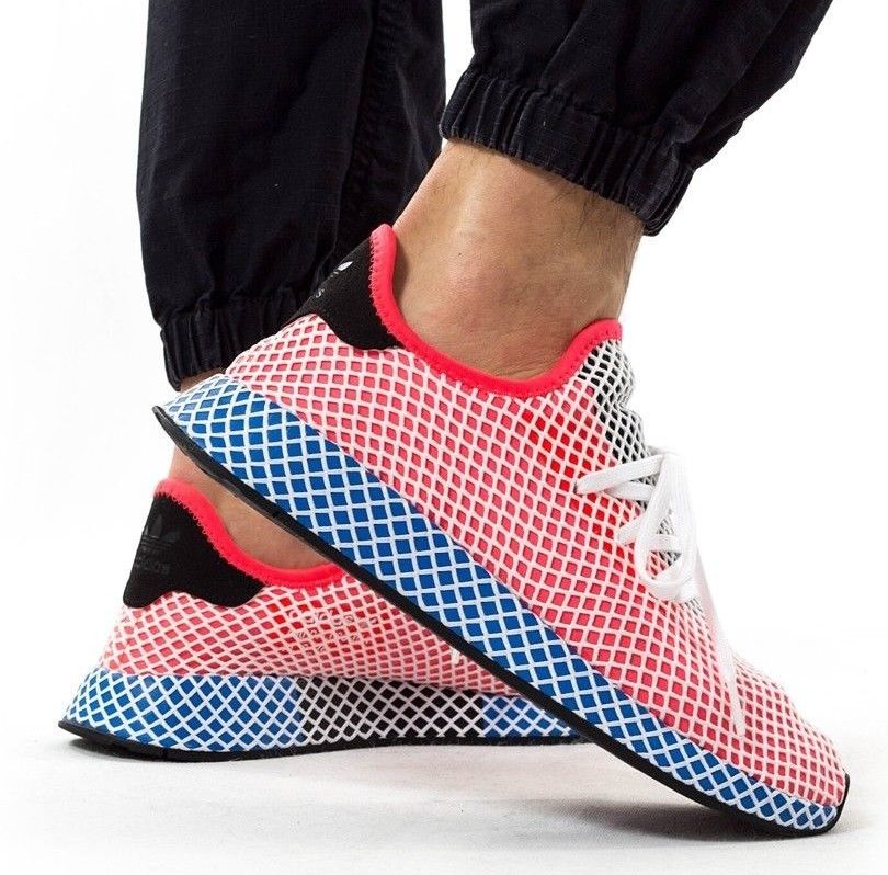 2f3061fd30987 ADIDAS Originals Deerupt Sneaker Mens solar red blue   39.99 https   www.
