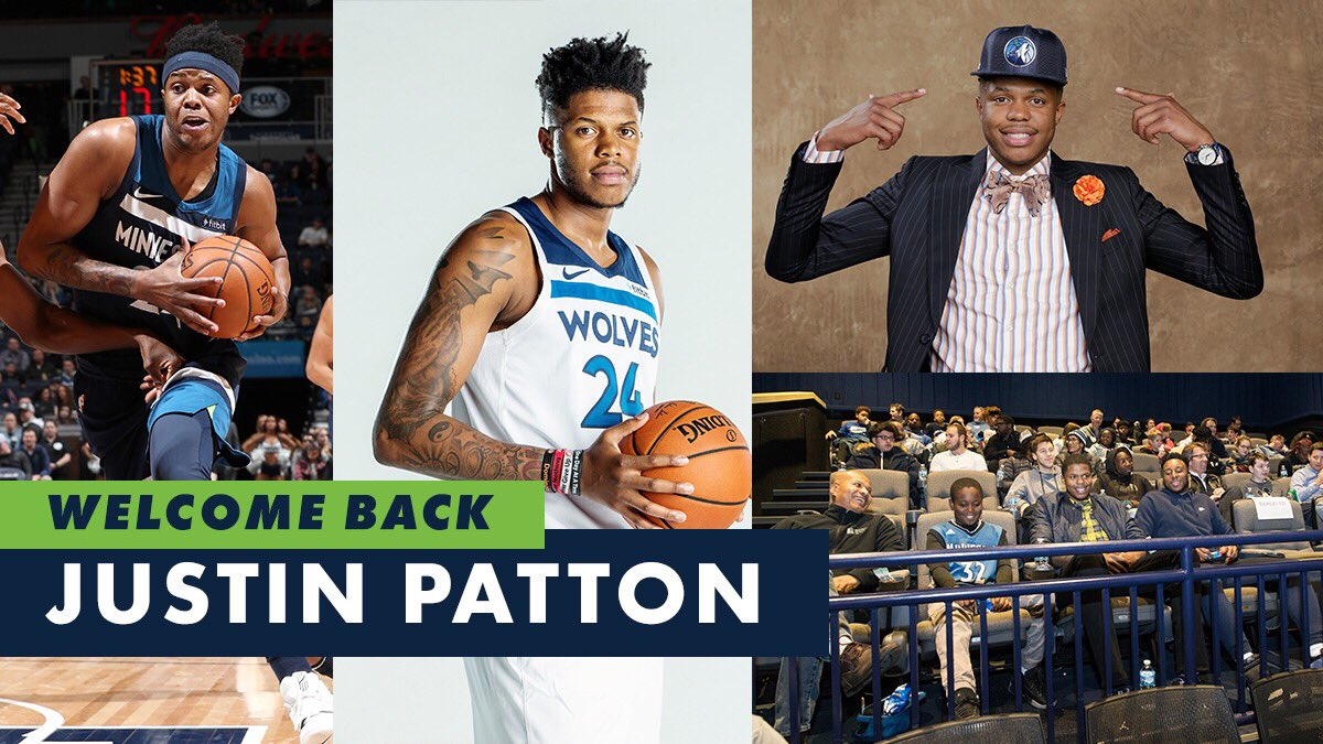 the night we've been waiting all season for...   Welcome back, @JustinPatton17! 🙌