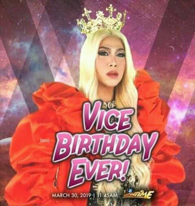 Happy happiest birthday sa pinakamamahal nating bakla/babae/lalake THE UNKABOGABLE VICE GANDA!!!