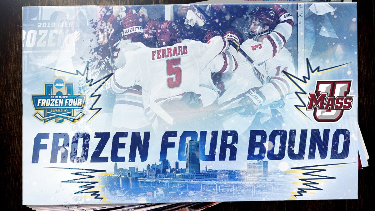 MASSACHUSETTS IS FROZEN FOUR BOUND!!!  (4) @UMassHockey looks dominant in a 4-0 win over Notre Dame and advances to the #FrozenFour for the first time ever!  #NCAAHockey