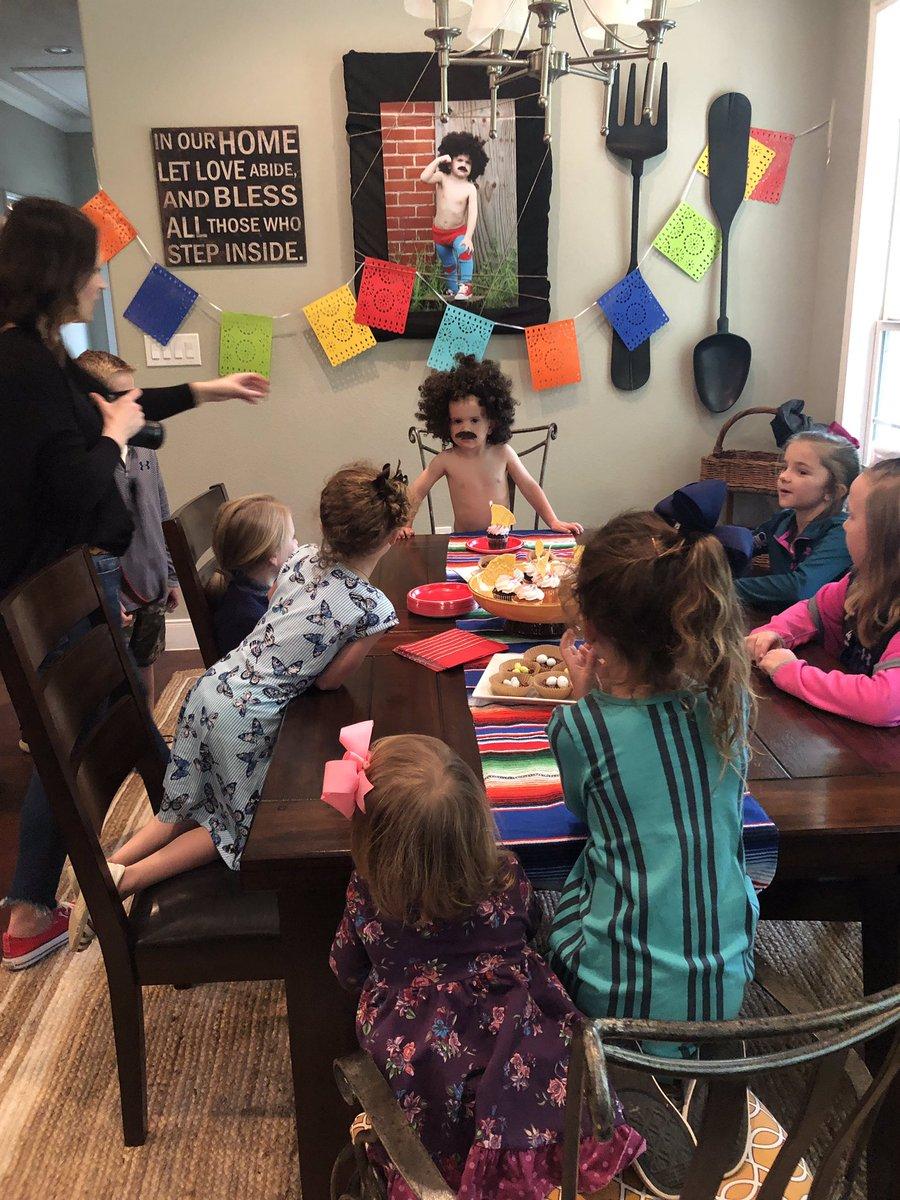 Today.....my cousin had a nacho libre birthday or party😂