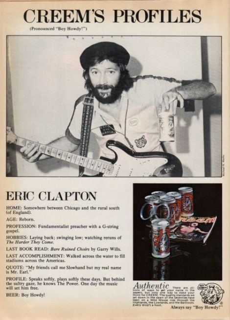 Happy Birthday English rock and blues guitarist, singer, and songwriter Eric Clapton (March 30, 1945- )