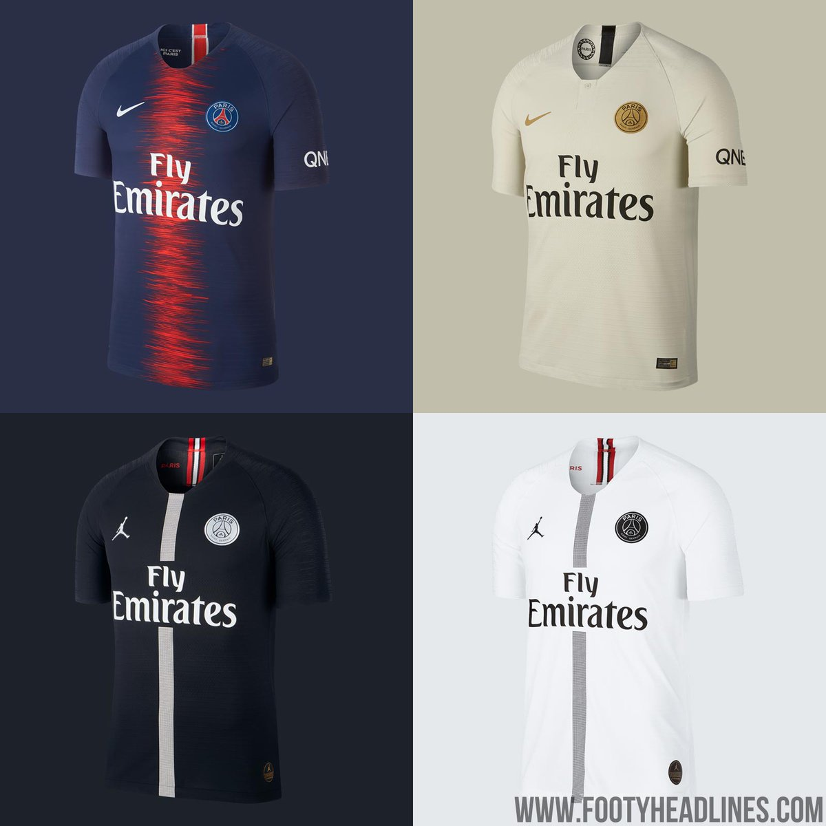 Footy Headlines On Twitter Psg S 4 Kits This Season Nike Will Release A Black Psg 4th Kit Next Season First Details Https T Co Syqlqjpudc