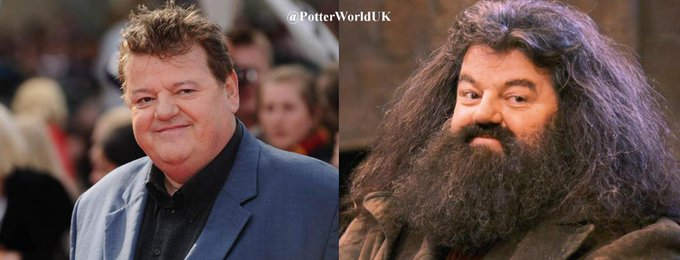 Happy 69th Birthday to Robbie Coltrane! He portrayed Rubeus Hagrid in the Harry Potter movies.