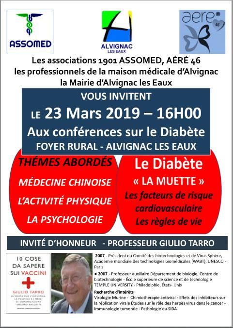 Carissimi Amici, vi comunico che in questi giorni sarò premiato ad Alvignac (Francia) dall'ASSOMED per umanità e dedizione alla ricerca.