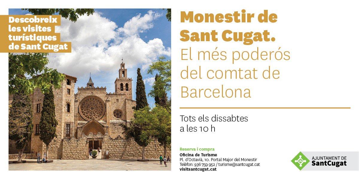 Vols descobrir la sorprenent  història del Monestir de Sant Cugat: El més poderós del comtat de Barcelona?  🎯Dissabtes a les 10h #VisitSantCugat Entrades👉 https://t.co/8VKo4qHjK4   @monestir_sant_cugat @BCNmoltmes @VisitBCN_CAT @ViuelValles @catexperience