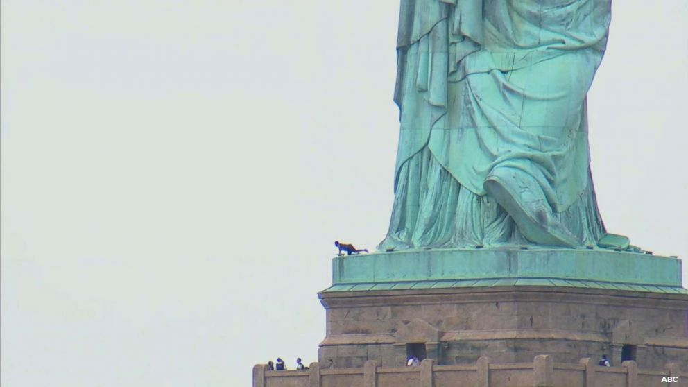 Woman who climbed Statue of Liberty on July 4 may see prison time. https://abcn.ws/2TZ4c7d