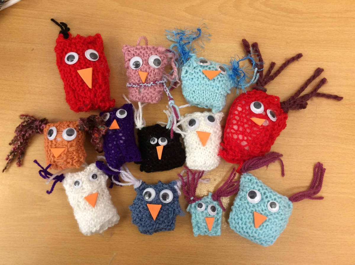Knitting Club are pleased to share the fruits of their labour - How cute are these! Well done knitters! 🧶