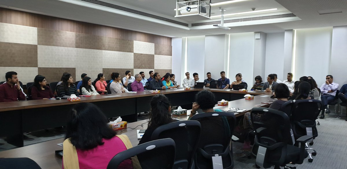 Immersed in the fascinating world of #AI...inhouse training for our employees at @nasscom Thanks @NasscomFS @amitrmaggarwal for organizing a very interesting session.