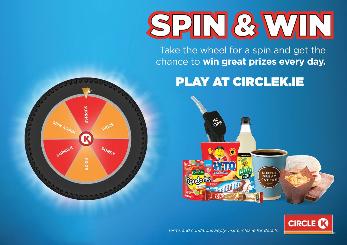 Circle K Spin and Win has arrived! All you have to do is