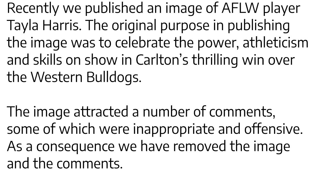 Photo of AFLW player Tayla Harris is not the problem, the vile trolls are