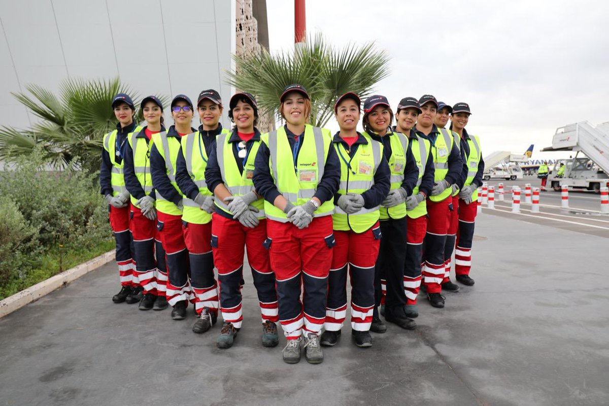 Swissport Maroc with a flight 100% women #InternationalWomensDay <br>http://pic.twitter.com/NQ3kiyJsRB