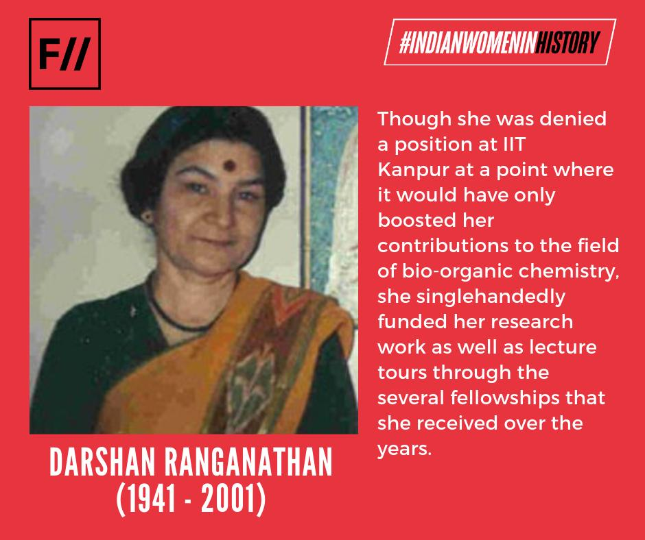 Her multiple achievements & dedication to organic chemistry will always be revered as an inspiration to women in STEM.  Read More: https://feminisminindia.com/2019/03/19/darshan-ranganathan-organic-chemistry/…  March is #WomensHistoryMonth & we'll be sharing the unheard stories of #IndianWomenInHistory every day of this month.