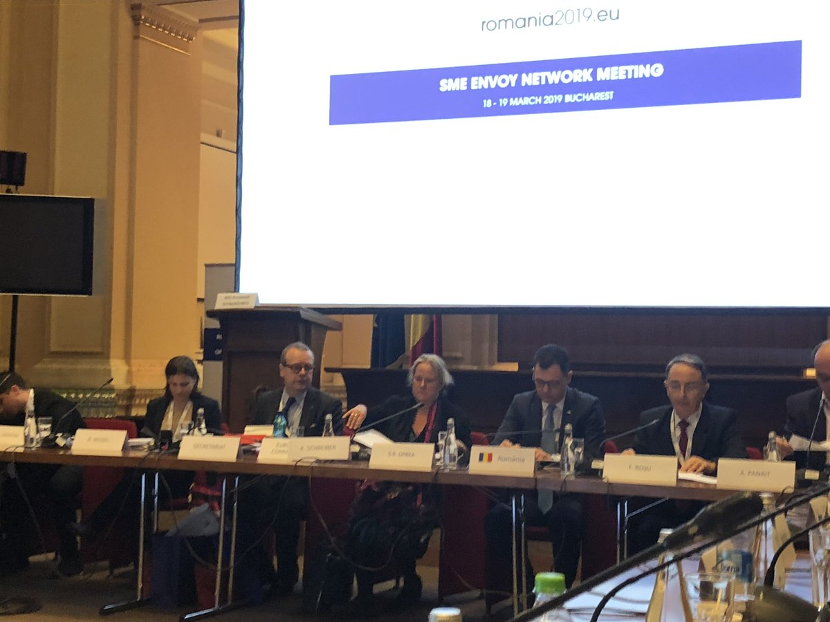 We are participating to the #SMEEnvoys meeting in Bucharest, discussing the future of #SME policy and presenting our priorities!  @EU_Growth @SMEunited @EUROCHAMBRES @BusinessEurope @EUStartupNet @YESforEurope @JADEnetwork @CoopsEuropepic.twitter.com/emasaNAuHM