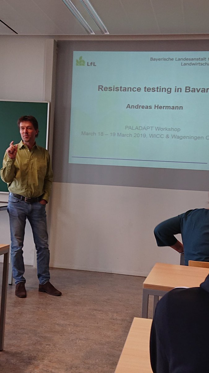 Andreas Hermann is presenting methodology of resistance testing to PCN in Bavaria during #PalAdapt workshop<br>http://pic.twitter.com/gySQciIeUJ