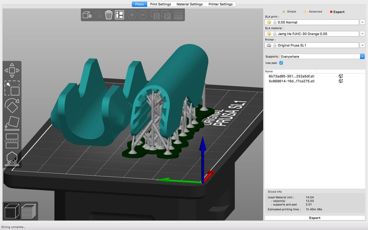 Prototype #stack7 preparation  Slic3r PE 1 42 Beta is Simple