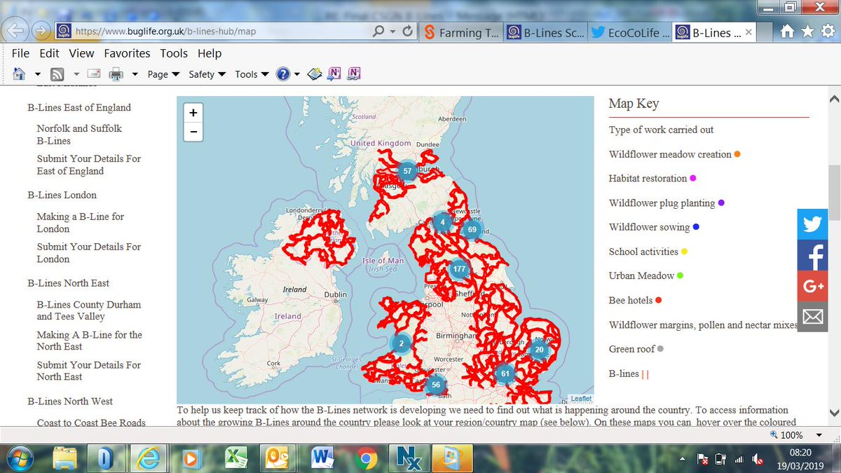 Excellent to see our good friends @Buzz_dont_tweet's new Scotland addition to the UK B-lines map, and how #EcoCoLIFE has been a part of its implementation.  Improving #EcologicalCoherence across the UK  ! Check out https://www.buglife.org.uk/b-lines-hub/scotland… for more info.
