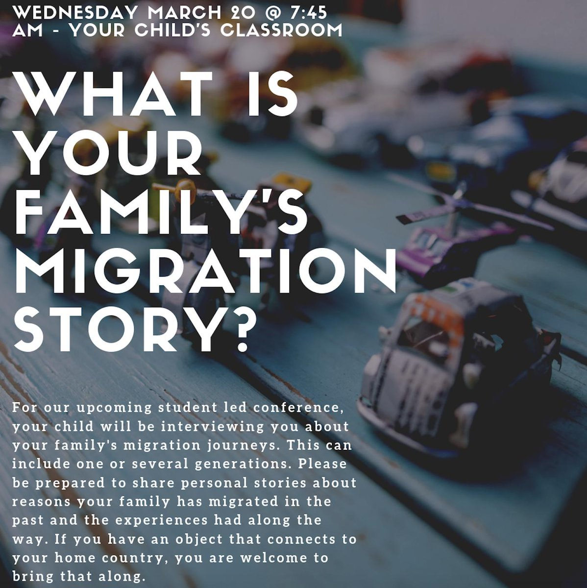 G3 Ss are eager to interview their parents tomorrow to uncover answers to the question: What is our family's migration story?#openhouse #studentled #pypchat #ibpyp @GESatKAUST